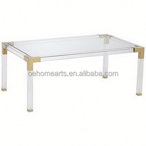 2017 new China Manufacturer Golden supplier scandinavian dining acrylic table