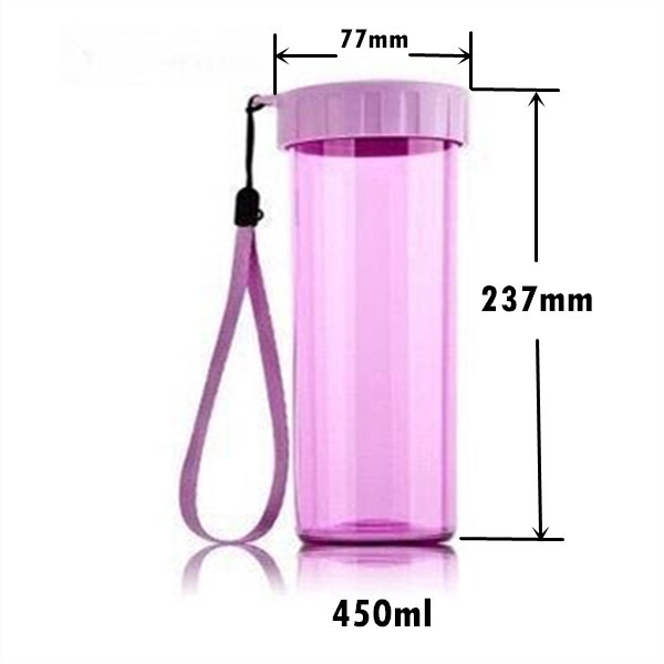 portable plastic drinking water bottle