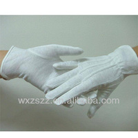 factory price white cotton parade gloves With Great Low Price