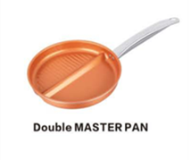 cast aluminum copper pan non-stick non-stick divided skillet Double master frying Pan