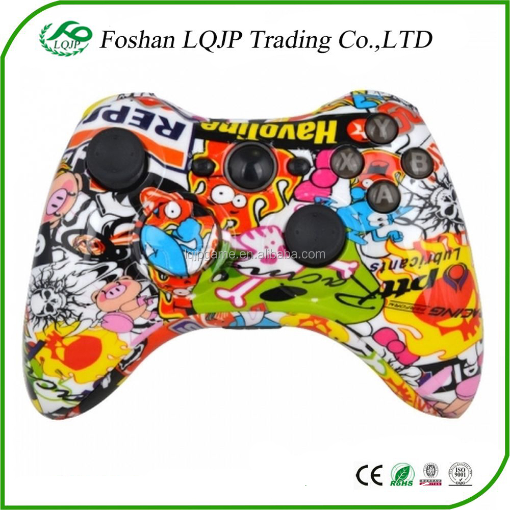 Custom for Xbox 360 Hydro Dipped Sticker Bomb StickerBomb Controller Shell Mod Kit + Parts for xbox 360