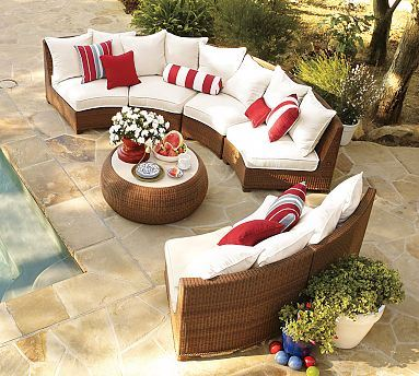 All Weather bright colored outdoor furniture