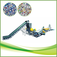 PE PP plastic waste sorting and processing recycling equipment