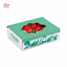 strawberry packaging corrugated box with logo printed