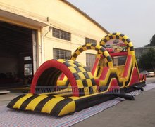 Newest customized inflatable turbo rush obstacle course