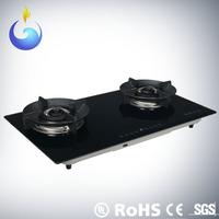 Smart operation 2 burner gas stove gas cooker china