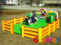 inflatable mechanical bull rodeo riding game