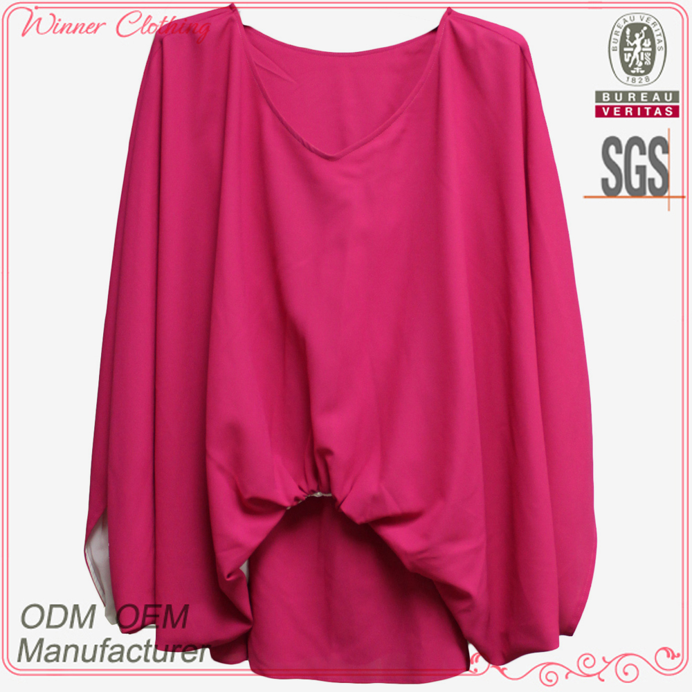 Ladies trendy fashion blouses 2014 clothing imported from Shenzhen