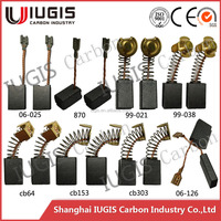 Supply Graphite Carbon Brushes for electric power tools IUGIS Carbon