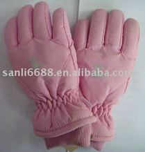girls waterproof fingered ski glove