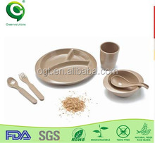 Chirstmas baby organic tableware sets used china dinnerware