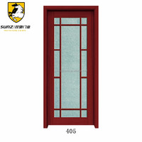 China factory full view entry door with glass inserts