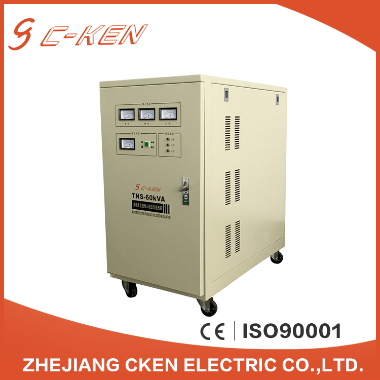 New Type 60KVA TNS/SVC Three Phase Automatic Servo Motor Voltage Regulator, AC Adjustable Voltage Stabilizers