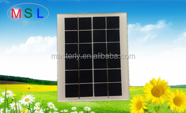 6V2W High efficiency cheap mini Polycrystalline solar panel