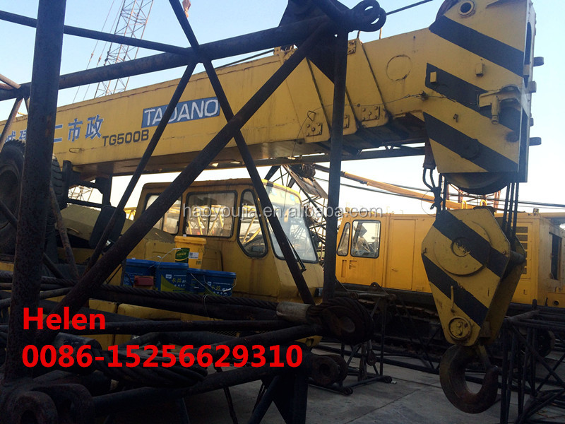manual 50 tons tadano crane made in Japan with nissan chassis for sale in cheap price