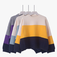 In 2016 the new women's sweaters women's short sleeve sweater short sleeve bat sleeve color autumn and winter shirt sweater