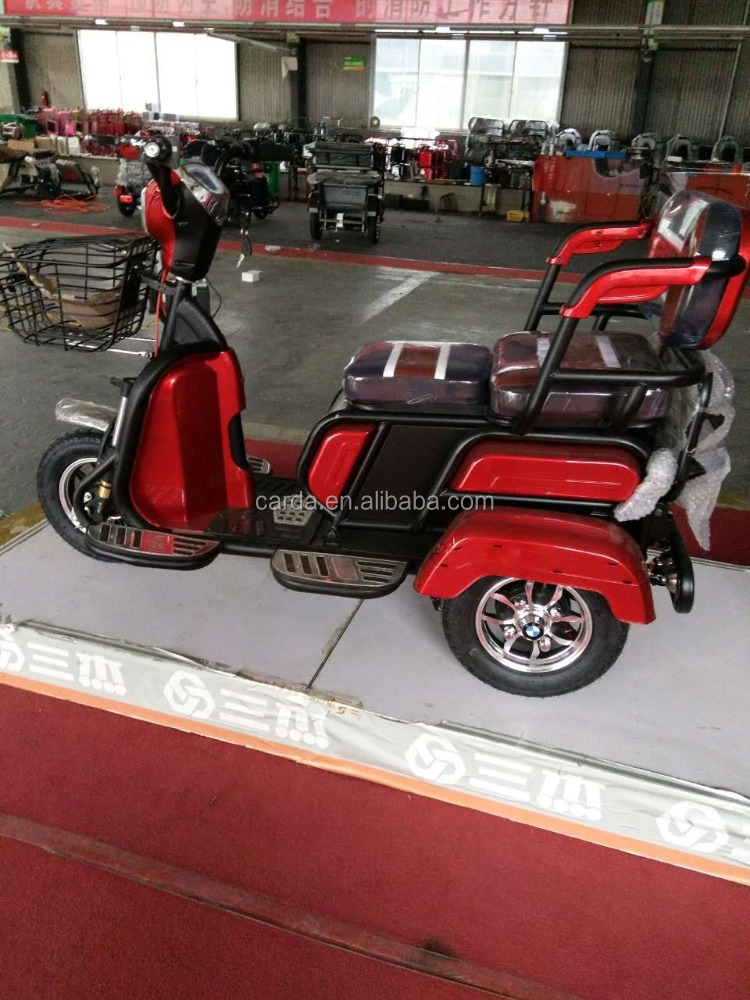 3 wheel elderly scooter with pedal electric passenger rickshaw outdoor new design older tricycle