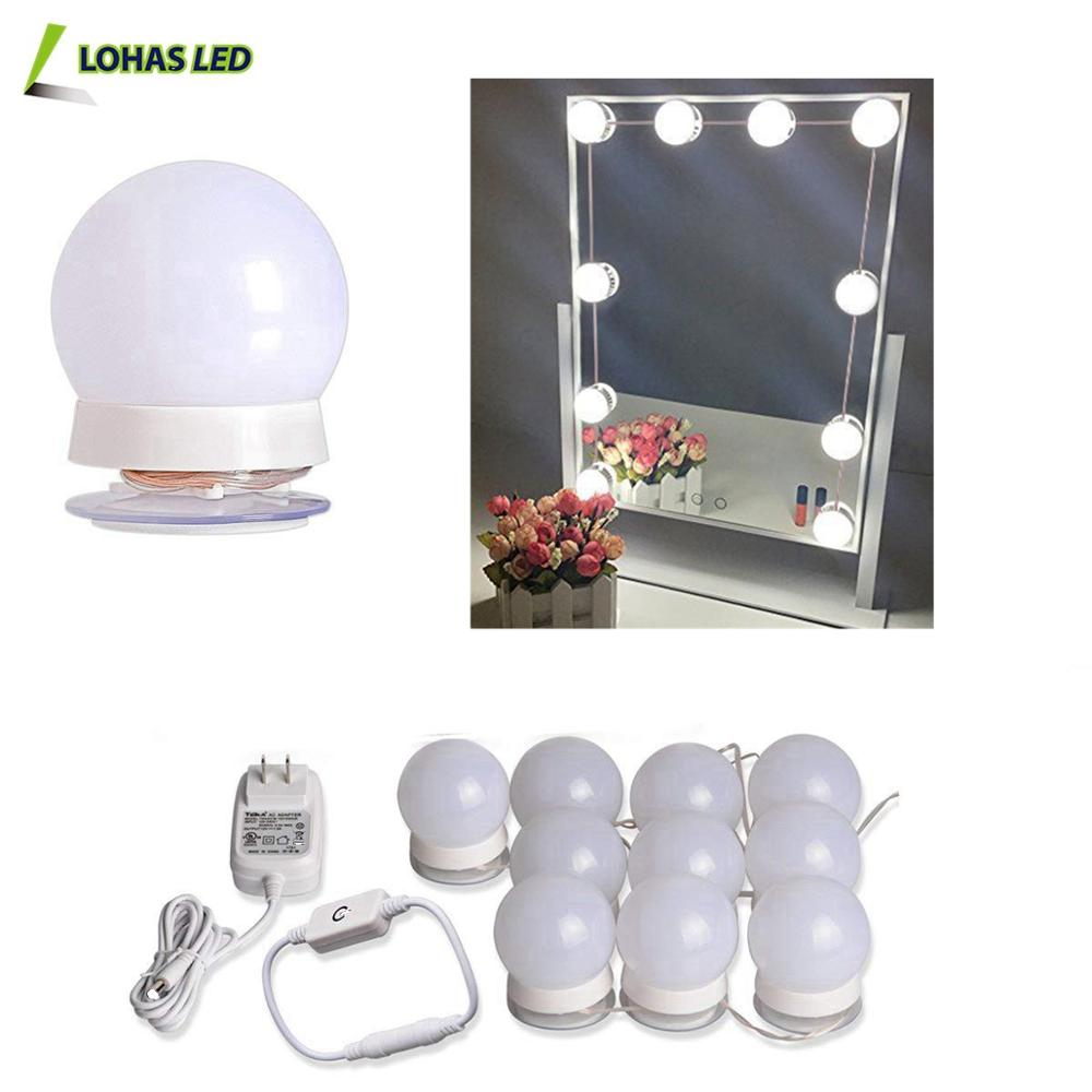 Hollywood Style LED Vanity Makeup Mirror Light Kit with 10 Dimmable Led <strong>Bulbs</strong>