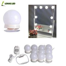 Hollywood Style LED Vanity Makeup Mirror Light Kit with 10 Dimmable Led Bulbs