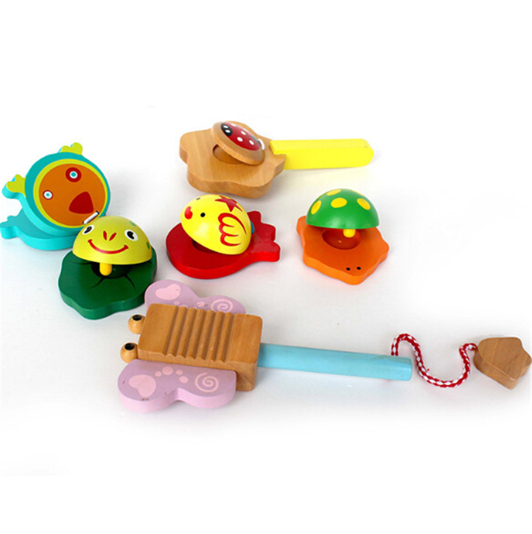 musical instruments baby musical toy wooden colorful castanets