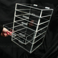 Drawer-style Storage Box Cube Display Case w/ Flip Top Quality Design Beauty Bath Anniversay