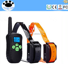 300 meters blue screen Green fluorescent button TPU remote control electronic no bark dog collar