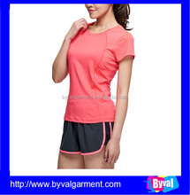 OEM High Quality Blank T Shirt 100%Polyester Absorb Sweat TShirt for Women