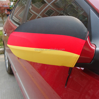 2016 EUFA silk screen printing German Flag Drawstring car mirror flag