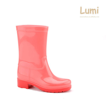 Hot selling OEM available rain boots PVC waterproof lady rainboots