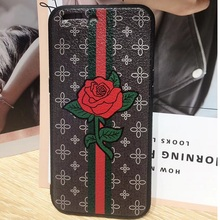 Fashion Printed Immitation Leather Mobile Phone Case Cover Soft Customized TPU Cover Design for Mobile Accessory