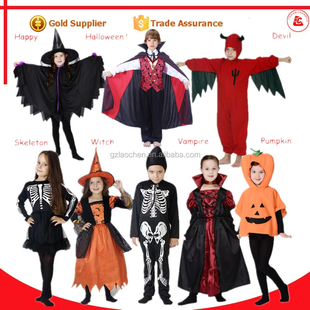 2016 hot sale realistic halloween fancy dress national children's costumes for kids