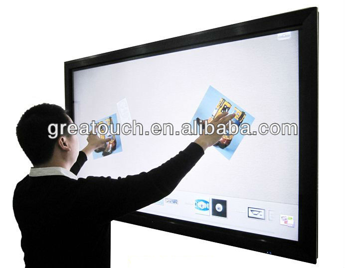 70 Infrared ir touch screen panel kit frame overlay with usb for TV LCD