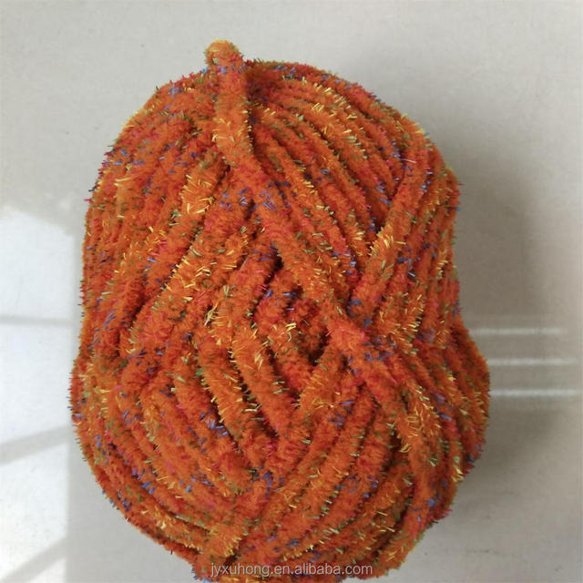 nylon linen material three twisted chenille yarn