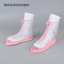 Fancy style durable transparent wholesale waterproof PVC rain boots women