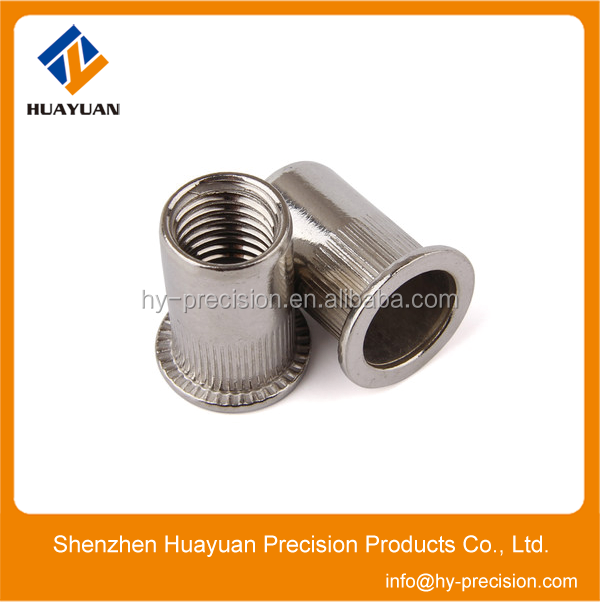 Customized Knurled Body Flat Head Rivet Nut