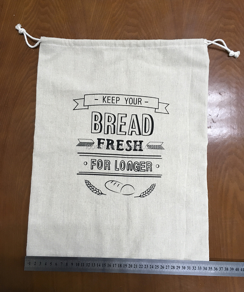 Reusable 100% natural linen bakery and baguette bag