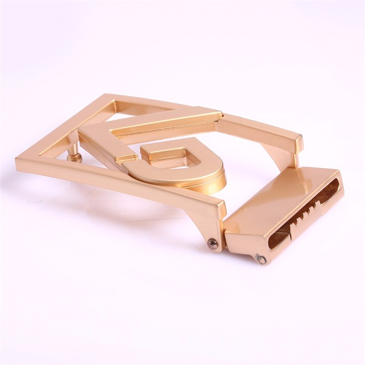 Factory Provide Gold Belt Buckles Metal Simple Belt Buckle Leather Lock Parts