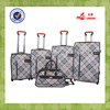 upright rolling 5pcs set PU luggage travel bag