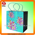 Beautiful flower luxury paper handbag