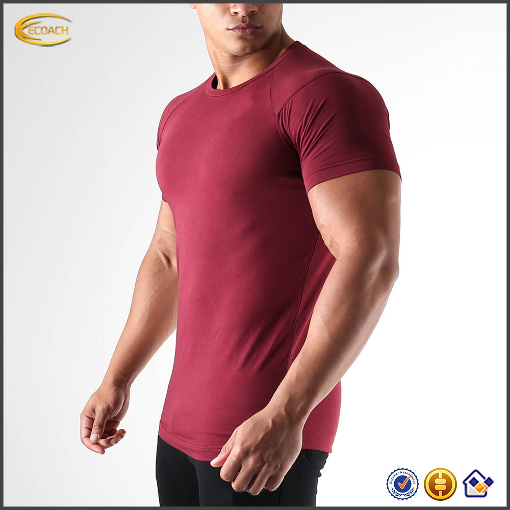 Sample Order Payment For Custom 95 Cotton 5 Elastane Plain Seamless Men Fitness Tshirts