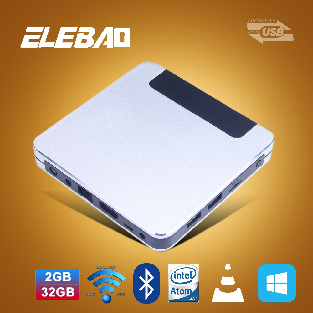 ELEBAO wintel T9 Z8500 z8700 fanless wintel 64gb mini PC usb3.0 Bluetooth