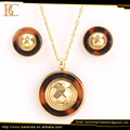 China factory 316l stainless steel jewelry two tone stainless steel jewelry sets for women