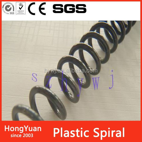 Office Binding Supplies ideal material for plastic spiral , pvc plastic spiral ring for book , pre-cut plastic spiral binding