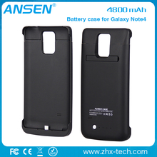 slim charger case Power Pack Backup 4800mAh Battery Case For Samsung Galaxy Note 4 with bulk price