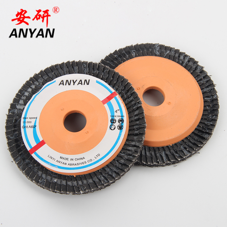 "4 "" 100*16mm Flap disc manufacture for grinder tool with custom logo"