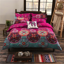 Hot sale home textiles reactive print national style cotton bedding sets