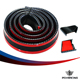 PQY RACING- 1.5M/ROLL 35MM WIDTH Universal Carbon Fiber car Rear Automotive Spoilers Carbon Spoiler for Honda BMW Audi PQY-RAS