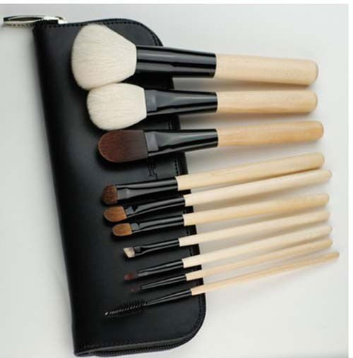 New arrival hot model best goat private label cosmetic Makeup brush set/kits 10pcs for cheap