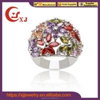 wholesale fashion 925 sun silver ring,925 silver ring with purple stone