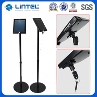 360 degree rotated telescopic lockable ipad stand,ipad floor stand